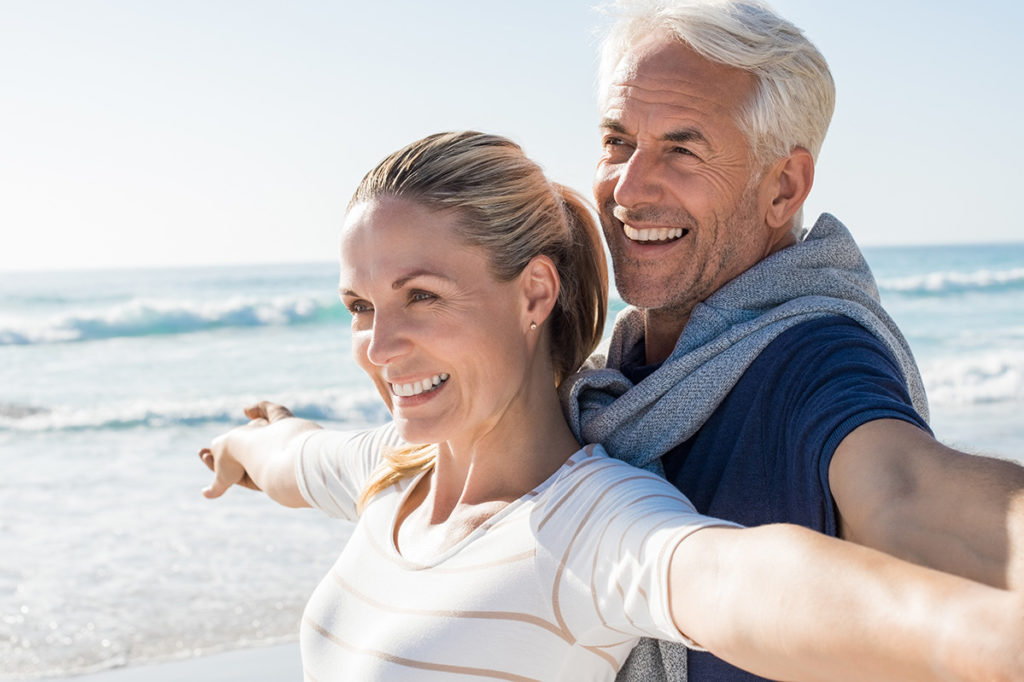 Carefree mature couple retirement healthy life
