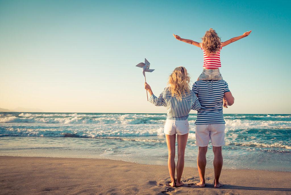 Family balancing life, work and money